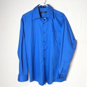 Perry Ellis Portfolio button up, blue, size medium